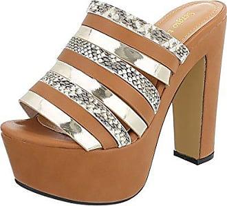 9c62fca9608539 Ital-Design High Heel Sandaletten Damen-Schuhe Plateau Pump High Heels  Sandalen Sandaletten