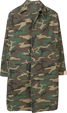 Fortela camouflage print coat - Verde
