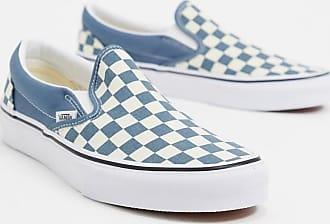 Vans Ua Classic - Instapsneakers dambordmotief in blauw/wit