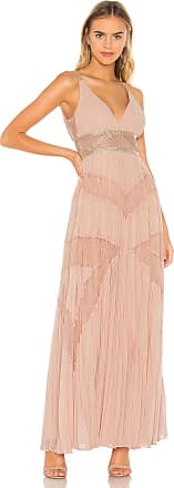 Bcbgmaxazria Eve Pleated Gown in Pink