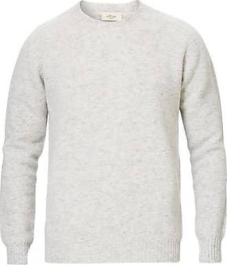 Altea Shetland Crew Neck Sweater Light Grey
