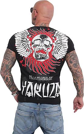 Yakuza Mens Burning Skull T-Shirt - Black - XXXXX-Large