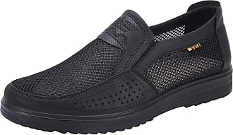 Jamron Mens Summer Breathable Mesh Loafers Driving Shoes Lightweight Casual Trainers Black SN01749 UK7.5