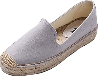 ICEGREY Womens Causal Loafer Flat Slip On Espadrille Light Blue UK 6.5