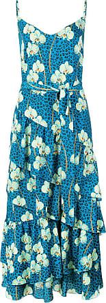 Borgo De Nor Vestido floral animal print - Azul
