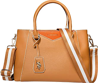 U.S.Polo Association U.S. POLO ASSN. Envelope Stitch Satchel Tan One Size