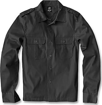 Brandit Mens US Hemd Langarm Shirt, Black, XXXXX-Large