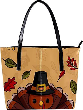 Nananma Womens Bag Shoulder Tote handbag Zipper Purse Top-handle Zip Bags - Hanksgiving Background With Turkey