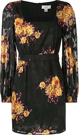 We Are Kindred Ibiza Kleid mit Sonnenblumen - Schwarz