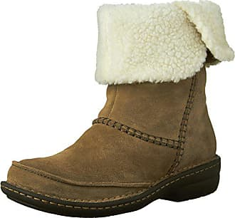 Clarks Womens Avington Grace Winter Boots, Khaki Suede, 9 M US