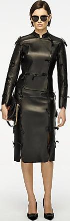 Escada Leather Bow-Detail Jacket