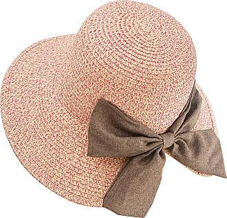 Yidarton Womens Summer Sun Hat Floppy Wide Brim Foldable Bowknot Outdoor Beach Straw Hat UPF50+ (5-Rose)