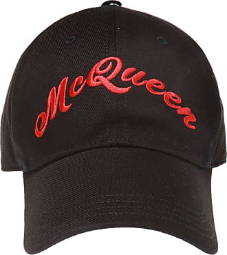 Alexander McQueen Logo-embroidered Baseball Cap Mens Black