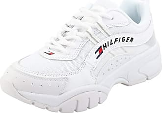 Tommy Jeans Heritage Runner Womens Platform Trainers in White - 3.5 UK