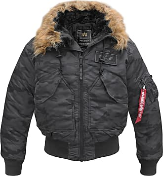 Alpha Industries CWU Hooded Fliegerjacke (Sale) black camo, Größe M
