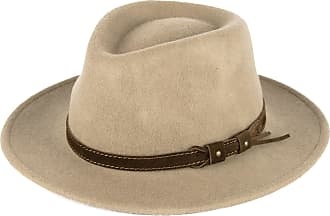 Hat To Socks Beige Wool Fedora Hat with Leather Belt Waterproof & Crushable Handmade in Italy