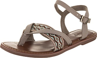 edb5402ffd89 Toms Womens Lexie Canvas Desert Taupe Embroidery Ankle-High Canvas Sandal -  8.5M
