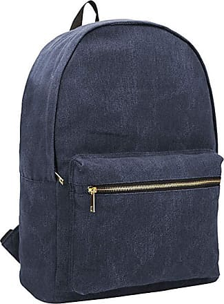 Quenchy London Ladies Backpack, Girls Casual Daypack Bag for School, Work or Hand Luggage Travel 20 Litre Size 39cm x32 x16 QL7165NB (Navy Blue)