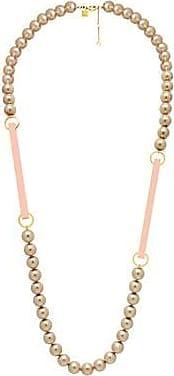 Misaki Collier sautoir Bell de perles bronze