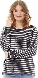 Animal striped sweatshirt with tie detailing to the cuffs