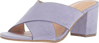 Kenneth Cole Reaction Womens Mass Away Heeled Mule X-Band Straps Sandal, Lavender, 6 Medium US
