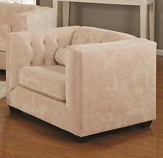 Coaster Fine Furniture Alexis Tufted Back Chair Almond