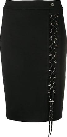 Versace Jeans Couture Saia lápis com detalhe de amarração - Preto