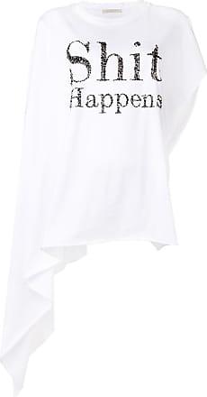 Christopher Kane Camiseta com bordado Shit Happens - Branco
