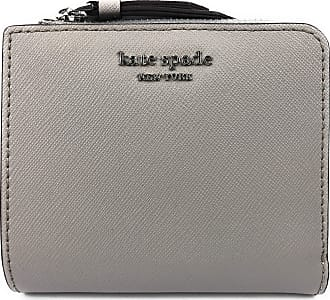 Kate Spade New York Small L-Zip Bifold Wallet Saffiano Leather Cameron