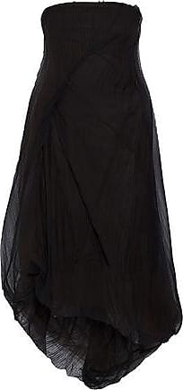 Rick Owens Rick Owens Woman Strapless Plissé-tulle Midi Dress Black Size 38