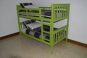 A & L Furniture A & L Furniture 3140LGP Slat Mission Bunkbed, Twin, Lime