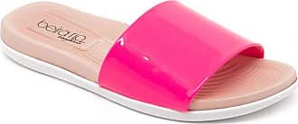 Beira Rio Chinelo Slide Beira Rio 8360.103 Verniz Pink