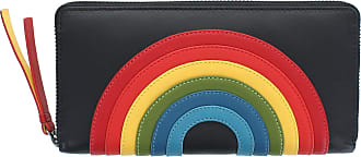 Visconti Happy Rainbow Collection Von Leather Zip Around Purse RFID HR82 Black