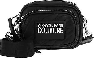 Versace Jeans Couture Cross Body Bags - Quilted Logo Shoulder Bag Black - black - Cross Body Bags for ladies