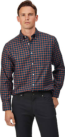Vorgewaschenes Extra Slim Fit Oxfordhemd mit Button down Kragen in Anthrazit