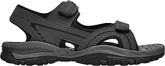 Slazenger Mens Strappy Touch Close Fastenings Wave Sandals (12 (47), Charcoal)