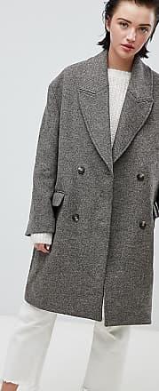 Weekday oversize coat in Chevron-Beige