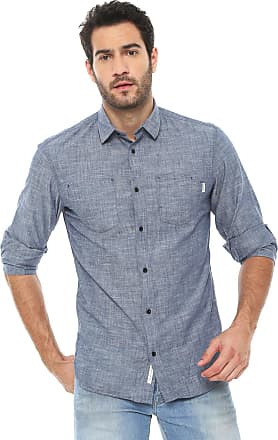 Jack & Jones Camisa Jack & Jones Slim Mescla Azul