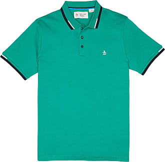 Original Penguin Rippe Inter Polo Shirt Shade Glade - cotton | large