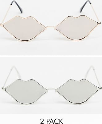SVNX Festival kiss - Confezione da 2 occhiali da sole rosa e argento