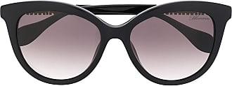 Blumarine Óculos de sol gatinho oversized - Preto