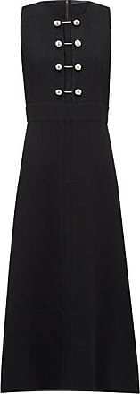 Proenza Schouler Bar-embellished Cut-out Crepe Dress - Womens - Black