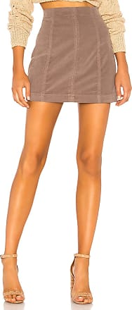 Free People Modern Femme Cord Mini Skirt in Mauve