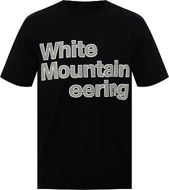 White Mountaineering Logo-appliquéd T-shirt Mens Black