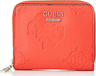 Guess Open Road SLG Small Zip Around, Leather Goods Woman red 11x 9x2 cm