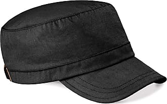 Beechfield Classic Army Cap 100% Cotton - 9 Great Colours (B34) (BLACK)(Size: One Size)