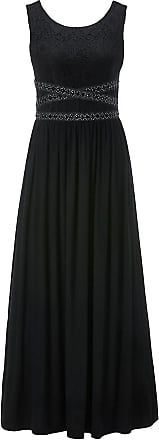 Madeleine Maxikleid mit Spitze und Schmuckdetails in schwarz MADELEINE Gr 34 für Damen. Polyamid