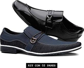 Venetto Kit Sapato Casual Thor + Sapato Social Verniz Venetto Azul e Preto 37