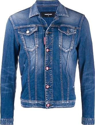 Dsquared2 Jeansjacke mit Logo - Blau