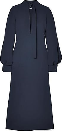 Victoria Beckham Cutout Crepe Midi Dress - Navy